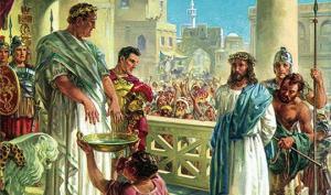 რატომ დაიბანა   ხელები  პილატემ?