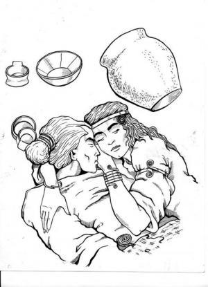 """3000 წლის შეყვარებულები-,,როცა დამარხეს, ქალი ჯერ კიდევ ცოცხალი იყო"""""""