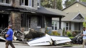 ამერიკელი ცოლთან ჩხუბის შემდეგ დაჯდა თვითმფრინავზე და საკუთარ სახლს შეასკდა