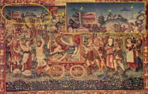 """XVI საუკუნის ნახატი ე.წ. """"მფრინავი თეფშების"""" გამოსახულებით"""