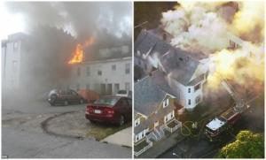 """""""გაზის გაჟონვის შედეგად აფეთქებამ დაახლოებით 70 სახლი იმსხვერპლა"""" ( ვიდეო )"""