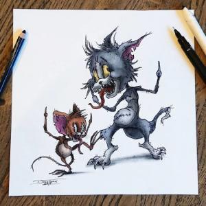 ჩვენი ბავშვობის საყვარელი მულტიპლიკაციური პერსონაჟები, რომლებიც მხატვარმა საშიშ მონსტრებად აქცია, ღამის კოშმარებს მოგგვრიან
