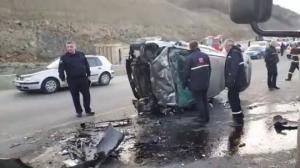 ქვემო ფონიჭალაში სამი  ავტომობილი ერთმანეთს შეეჯახა(ვიდეო)