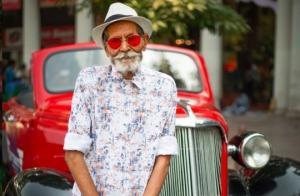 არტისტმა მოხუც ბაბუას თანამედროვე ყაიდაზე ჩააცვა და ფოტოები გადაუღო