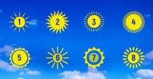 აირჩიეთ მზე და გაიგეთ, თქვენი პიროვნების ძირითადი მახასიათებელი