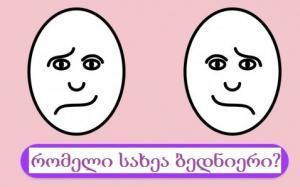 იმ სახეს, რომელსაც ამოირჩევთ, ძალიან ბევრი რამის თქმა შეუძლია თქვენ შესახებ