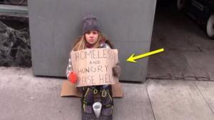 11 წლის უსახლკარო გოგონა ქუჩაში იყინება და დახმარებას ითხოვს - სოციალური ექსპერიმენტი გამაოგნებელი შედეგით!