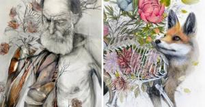 მხატვრის საოცარი სინთეზი ფლორის , ფაუნისა და სხვა ცოცხალი არსებების