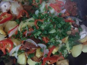 გემრიელი კერძი, რომელის მომზადებაც მხოლოდ ნახევარ საათს წაგართმევთ....