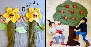 იაპონელი დედა შვილების ძილს ნამდვილ თავგადასავლად აქცევს (+ფოტოები)
