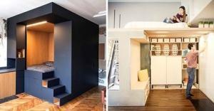 როგორ დავზოგოთ ადგილი პატარა ბინაში - 17 გენიალური იდეა