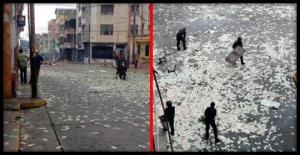 ვენესუელის ქუჩებში ფულის წვიმა წამოვიდა