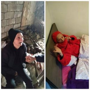 ბებოს, რომელიც ნანგრევებში სიცივისგან აკანკალებული იპოვეს, აღარასდროს შესცივა და მოშივა