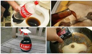 კოკა-კოლას გამოყენების 7 მეთოდი- დახმარება დიასახლისებს
