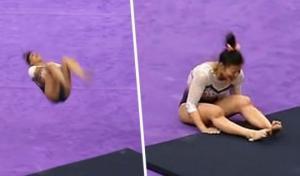 ტანმოვარჯიშემ სალტოს შესრულებისას ორივე ფეხი მოიტეხა(ვიდეო)