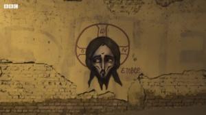 """""""ეს მკრეხელობაა და ჯოჯოხეთში  დაიწვები - ქუჩის მხატვარი,რომელიც კედლებზე ქრისტეს ხატავს"""