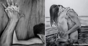 ბერძენი მხატვრის სურათები, რომლებიც ჭეშმარიტი სიყვარულის სილამაზეს გვიჩვენებს