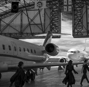 დეფილე საქართველოს აეროპორტში