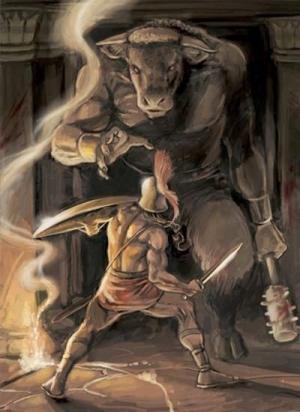 თეზევსის გმირობები, რომლის მიხედვითაც გადაღებულია ანტიკური ფილმები, შეხვედრა კოლხ მედეასთან