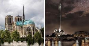 ნოტრ-დამის რეკონსტრუქციის 20 უჩვეულო პროექტი მთელი მსოფლიოს არქიტექტორებისგან