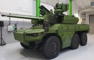 """""""Jaguar""""-ი ფრანგული საბრძოლო სადაზვერვო მანქანა საკმაოდ მძლავრი საცეცხლე მოდულით"""