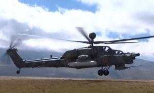 """რუსული  დამრტყმელი  ვერტმფრენის  """"Ми-28""""-ის მიერ შესრულებული ძალზე უცნარი და რთული მანევრი"""
