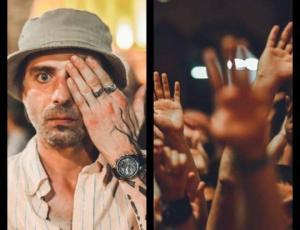 ემოციური კადრები ფოტოგრაფ ნიკოლოზ ურუშაძის ობიექტივიდან და აქციაზე დაფიქსირებული ილიკო სუხიშვილი, რომელმაც უარი თქვა გასტროლებზე რუსეთში