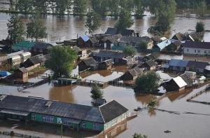ირკუტსკის რაიონის სოფელი ტულუნი წყალმა დაფარა