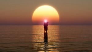 ქრისტეს გამოსახულება  იტალიაში აგროპოლის ზღვაზე