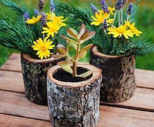 ბაღის და სახლის გაფორმება ხის კუნძებით – 60 საოცარი იდეა