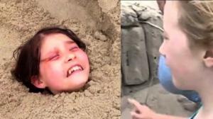 11 წლის ბიჭუნამ სანაპიროს ქვიშაში ცოცხლად ჩამარხული გოგონა იპოვა... მისმა ქმედებამ ადამიანებს იმედი დაუბრუნა....(+ვიდეო)