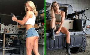 ულამაზესმა სამხედრო მოსამსახურე გოგონამ იდეალური  სხეულით მთელი ინტერნეტსივრცე  მოხიბლა