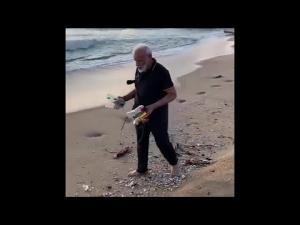 ინდოეთის პრემიერ-მინისტრმა სანაპიროს დალაგება გადაწყვიტა ( ვიდეო)
