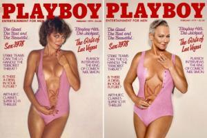 """""""Playboy""""  ყოფილი მოდელები 40 წლის შემდეგ დაბრუნდნენ, რათა თავიანთი გარეკანის ფოტოები გააცოცხლონ"""