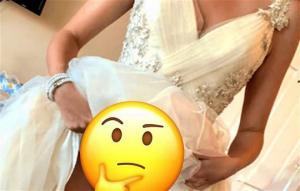 პატარძლის გულწრფელი აღიარება:  ნახეთ, რა აცვია მას საქორწილო კაბის ქვეშ