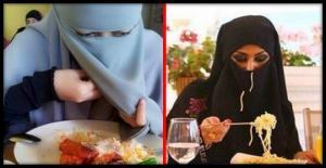 ნახეთ, როგორ იკვებებიან არაბი ქალები რესტორნებში