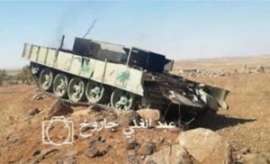 """ისლამური ხალიფატის მებრძოლებმა """"Т-55""""-ი """"შაჰიდ-ტანკად"""" აქციეს"""