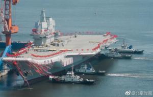 """ჩინეთის სამხედრო, საზღვაო ფლოტმა შეიარაღებაში მიიღო მეორე ავიამზიდი """"CV-17 Шаньдун""""-ი"""