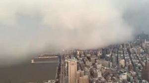 შთმბეჭდავი ვიდეო: ნიუ-იორკი ძლიერმა თოვლიანმა ნისლმა დაფარა
