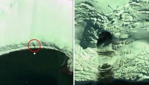 სენსაციური ვიდეო: ანტარქტიდაში უცხოპლანეტელთა  გამოქვაბული აღმოაჩინეს