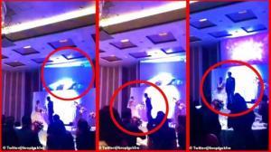 სიძემ ქორწილში საკუთარი საცოლე საჯაროდ ამხილა ღალატში(ვიდეო)