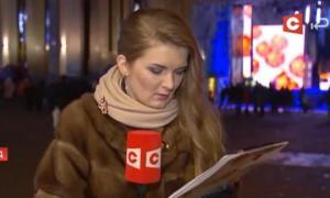 """ბელორუსი ჟურნალისტი """"სიმთვრალისგან"""" ენას პირში ძლივს ატრიალებდა(ვიდეო)"""