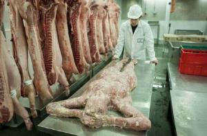 """ვიდეო: - ლონდონში """"ადამიანის"""" ხორცის მაღაზია გახსნეს"""