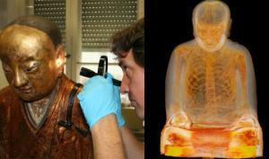 მეცნიერებმა ბუდას, XII საუკუნის, ქანდაკებაში მუმიფიცირებული სხეული აღმოაჩინეს