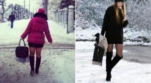 მოშიშვლებული ბარძაყები თოვლსა და ყინვაში - ქალები, რომელთაც სეზონი აერიათ