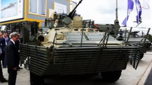 """ჯავშანტრანსპორტიორ """"БТР-82АТ""""-ს «Армия-2020» სამხედრო გამოფენაზე გამოიყვანენ კუბინკაში"""