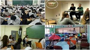 თავზე გაზეთი, ქოლგა და სხვა უჩვეულო მეთოდი, რომელსაც მასწავლებელი გადაწერის თავიდან ასაცილებლად იყენებს