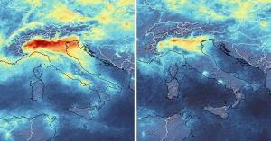კორონავირუსის გამო გარემოს დაბინძურების მაჩვენებელი მკვეთრად შემცირდა: სურათები კოსმოსიდან