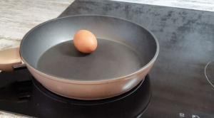 რა დაემართება კვერცხს, თუ მას ნაჭუჭით შევწვავთ