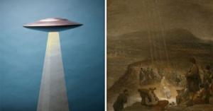 ამოუცნობი მფრინავი ობიექტი მე-18 საუკუნის ნახატზე